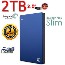 "2TB 2.5"" SEAGATE Backup Plus SLIM USB3.0 Portable External Hard Drive  Blue"