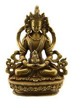 Soprammobile Tibetano Budda Amitayus Amitabha Bodhisattva 85 MM Rame Nepal 25650