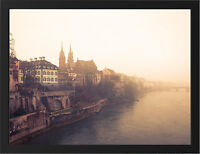 BASEL RHINE RIVER NEW A3 FRAMED PHOTOGRAPHIC PRINT POSTER