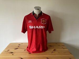 Manchester United Home Shirt Large 1994/1995/1996 Vintage Football Retro
