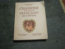 Marguerite et Raoul D'HARCOURT: Chansons folkloriques françaises au Canada