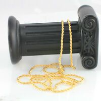 22k Yellow Gold Filled Twist Long chain-Necklace- 60 cm,Thin Chain