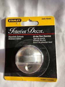 Stanley Hardware 75-0061 / CD9203 Hi-Rise Floor Doorstop Brass with Satin Nickel