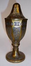 Deckelpokal Bronze Silber Damaskus 19 Jh.