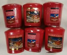 Yankee Candle Votives: CHRISTMAS EVE Wax Melts Lot of 6 Red Wax New Holiday