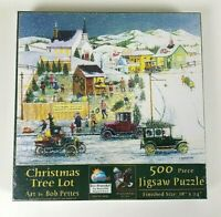 Sunsout Bob Pettes Christmas Tree Lot Jigsaw Puzzle 500 Pieces #14057 Sealed