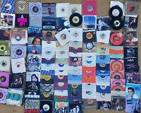 Lot of  (270) 45 rpm Records 1960-85' Majority w/Sleeves Jukebox - Rock & Pop