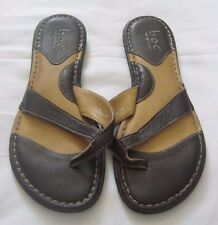 Womens Sandals Shoes BOC Born Size 7 Eur 38 Brown Leather Thongs Flip-flops Nice