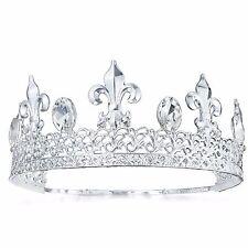 TQF54 Men's Imperial Medieval Fleur De Lis King Crown 67 mm High Sizable Dia