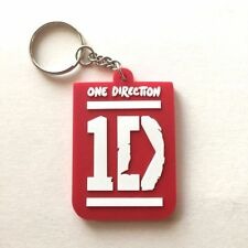RED 1D ONE DIRECTION RUBBER KEYCHAIN ROCK MUSIC Memorabilia Gift Collectible