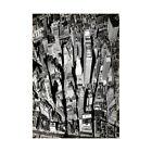 Black White Y Aerial View Manhattan City New York Framed Wall Art Print