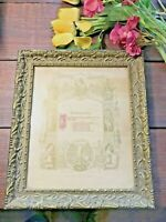 VTG Wood Gesso Frame 1897 Certificate of Confirmation German COURTLAND MINNESOTA