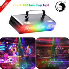 U`king Stage Light 500mW Rgb 3Lens Rgb Laser Beam Pattern Dmx Dj Party Disco