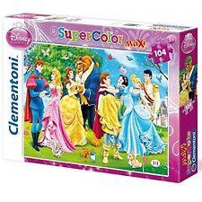 Clementoni 23656. Puzzle enfant. 104 pièces. Princesses Disney avec princes