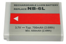 700mAh Replace NB-6L Battery for Canon PowerShot D10,S200(2013),S90,SD1300 IS