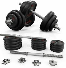 Cast Iron Dumbbell Set 20kg York Weights Workout Exercise Training Equipment Gym