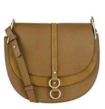 Monsoon Accessorize Mia Saddle Bag Tan Brand New Wit Tags Faux Leather crossbody