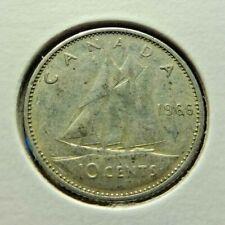 Canada 1966 10 cents .800 silver Dime
