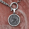 Vintage Owl Coin Necklace Man Women Greek Pendant Retro-Roman Jewelry