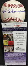 RED SCHOENDIENST SIGNED 2011 WORLD SERIES BASEBALL ST LOUIS CARDINALS JSA J12
