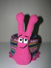 Handmade Toilet Paper Roll Cover Crochet SNAIL bathroom decoration pink new
