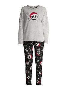 Disney Jack Skellington Nightmare Christmas Ladies 2 Piece Pajamas PJ Set 2020