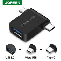 UGREEN USB OTG Adapter USB 3.0 to Micro USB & Type C Adapter For Samsung Xiaomi