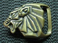 LION OF JUDAH BRASS BELT BUCKLE! VINTAGE! VERY RARE! 1970s! TRINITY! HIPPIE! USA
