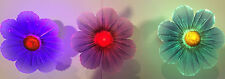 Pack of 3 Fiber Optic Color Changing Accent Set of 3 Flowers