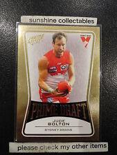 2013 AFL SELECT PRIME DRAFT PD44 JUDE BOLTON SYDNEY SWANS 054/145