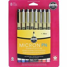 Sakura Pigma Micron PN Pen - Durable Plastic Nib (.45mm) - 8 Color Set - 50220