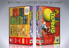 MARIO TENNIS. Box/Case. Nintendo 64. BOX + COVER. (NO GAME).