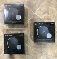 New Sealed Ecobee4 Alexa Enabled Smart Thermostat w/ Room Sensor