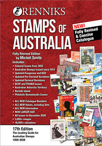 NEW Renniks Stamps of Australia 2021 catalogue 17th ed: FREE $40 WORTH OF STAMPS