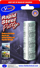 2x V-Tech Rapid Steel Putty Epoxy Instant Metal Bonding Crack Filler 56.8g VT138