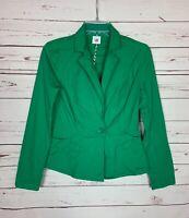 Cabi Women's XS Extra Small Green Button Spring Verde Jacket Coat Blazer $119