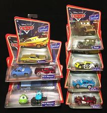 Disney Pixar Cars Supercharged Lot 7-McQueen, Ramone, Sarge, Sally, Mike, Sulley