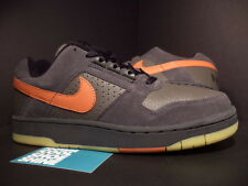 05 Nike Zoom Air DELTA FORCE SB 1 NEWSPRINT GREY ORANGE BLACK GUM SOLE BROWN 9.5