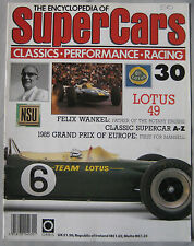 SUPERCARS magazine Issue 30 Featuring Lotus 49 Cutaway & poster, Felix Wankel