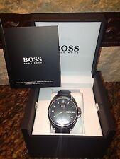 Hugo Boss Men's Black Driver Day/ Date Watch Hugo Boss 1512874--nwt and gift box
