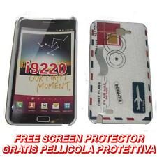 Pellicola + BACK cover LETTERA POST per Samsung Galaxy Note I9220 N7000 (B4)