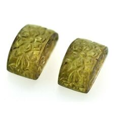 52.50cts 100% Natural Tourmaline Loose Gemstone Islamic Hand Carved Carving Pair