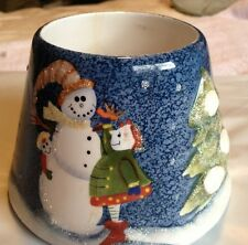 Home Interior Blue Snowman Kids Tree Nice Candle Shade