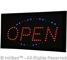 InkBed Professional Electric Bright Led Open Sign Retail Small Business Ink Bed