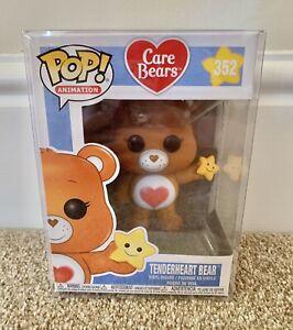 Funko Pop! Animations Care Bears Tenderheart Bear #352 in protector