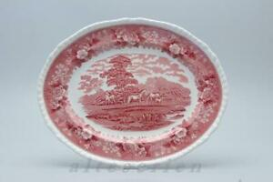 mittelgroße Fleischplatte Adams English Scenic rot