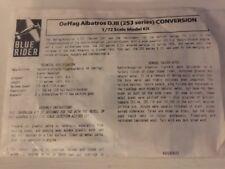 Blue Rider Oeffag Albatros D.III 253 Series Conversion 1/72 Scale Bag Kit New