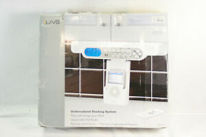 iLive Under Cabinet Kitchen iPod Docking System with AM/FM Radio Stereo Speakers