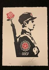 """Shepard Fairey OBEY """"Rose Soldier"""" Letterpress Print Signed 2017 poster Giant"""