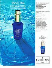 Publicité Advertising 107  1990  Guerlain  cosmétiques Issima aquasérum 2.10.17